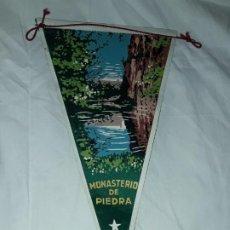 Banderines de colección: ANTIGUO BANDERÍN MONASTERIO DE PIEDRA. Lote 194255027