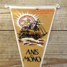 Banderines de colección: BANDERIN ANIS DEL MONO AÑOS 50/60. Lote 194270543