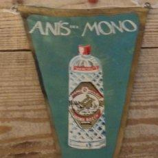 Banderines de colección: BANDERIN ANIS DEL MONO AÑOS 50/60. Lote 194270632