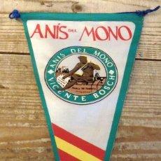 Banderines de colección: BANDERIN ANIS DEL MONO AÑOS 50/60. Lote 194275216