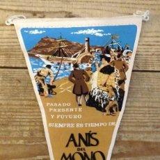 Banderines de colección: BANDERIN ANIS DEL MONO AÑOS 50/60. Lote 194275250