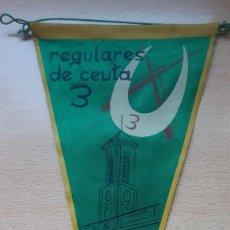 Banderines de colección: BANDERIN REGULARES DE CEUTA 3 1962. Lote 194568916