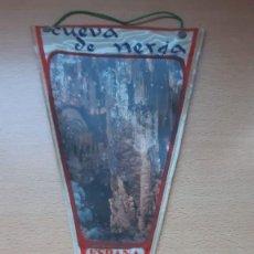 Banderines de colección: BANDERIN DE CUEVA DE NERJA ESPAÑA. Lote 194631976