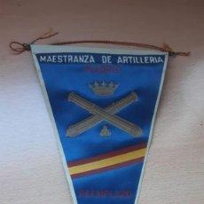 Banderines de colección: BANDERIN MAESTRANZA DE ARTILLERIA REEMPLAZO MADRID 1960. Lote 194632167
