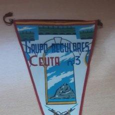 Banderines de colección: BANDERIN GRUPO REGULARES CEUTA Nº 3. Lote 194703081