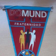 Banderines de colección: BANDERIN DOMUND DE LA NUEVA FRATERNIDAD 1974. Lote 194703115
