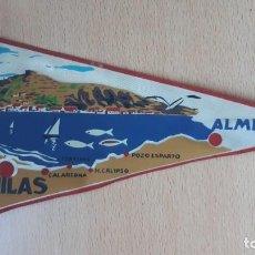 Banderines de colección: BANDERIN DESDE AGUILAS A ALMERIA POR LA COSTA. Lote 194703265