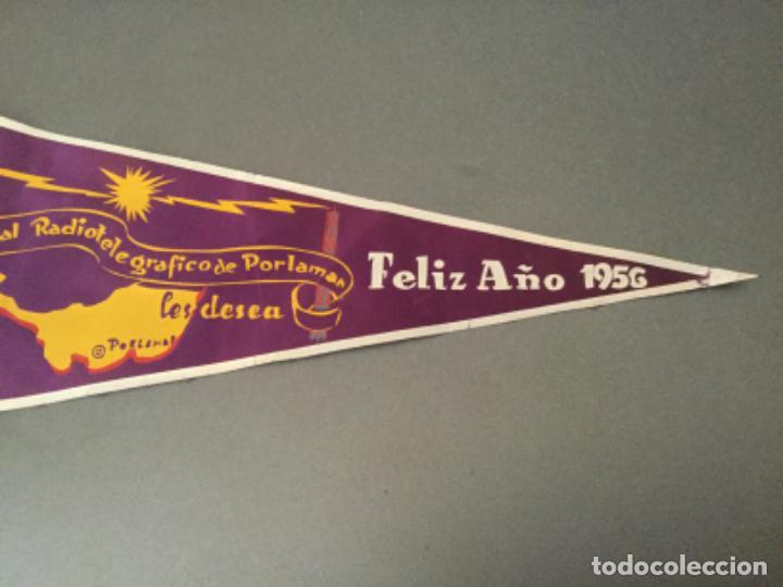 Banderines de colección: BANDERIN RADIO RADIOTELEGRAFICO DE PORLAMAR LES DESEA FELIZ 1956 COLOMBIA? - Foto 2 - 194705165