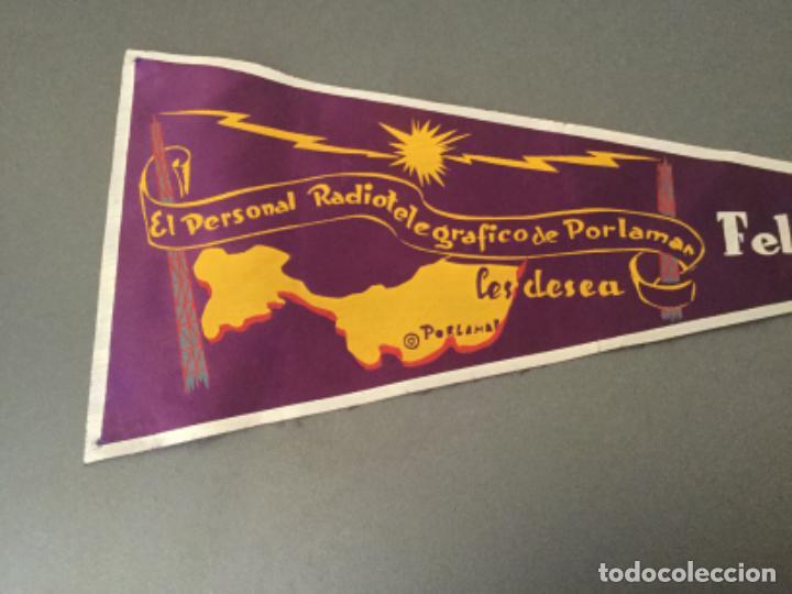 Banderines de colección: BANDERIN RADIO RADIOTELEGRAFICO DE PORLAMAR LES DESEA FELIZ 1956 COLOMBIA? - Foto 3 - 194705165