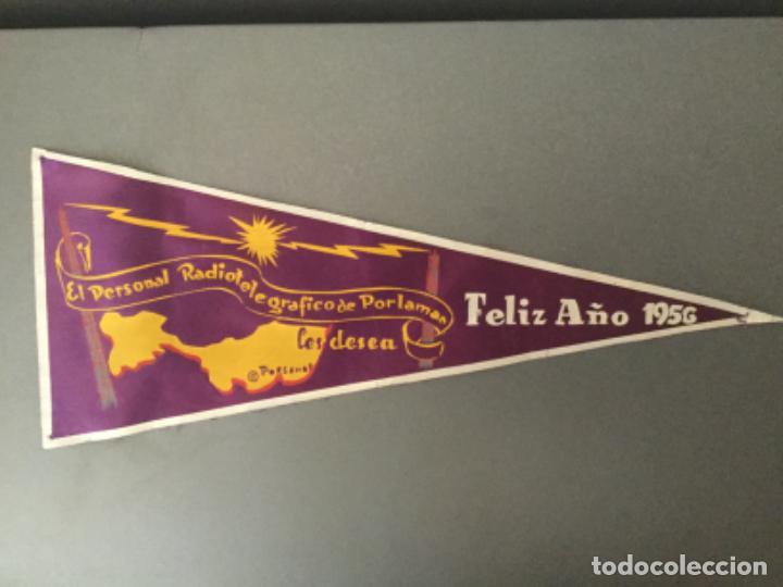 Banderines de colección: BANDERIN RADIO RADIOTELEGRAFICO DE PORLAMAR LES DESEA FELIZ 1956 COLOMBIA? - Foto 4 - 194705165