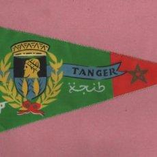 Banderines de colección: BANDERIN RECUERDO DE CIUDAD DE TANGER MARRUECOS. Lote 194782716