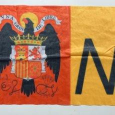 Banderines de colección: BANDERA DE ESPAÑA NUDO PATRIOTA ESPAÑOL ÁGUILA. Lote 194983613