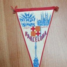 Banderines de colección: BANDERIN MONTJUICH - SAGRADA FAMILIA -BARCELONA . Lote 195402251