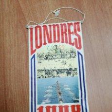 Banderines de colección: BANDERIN LONDRES - 1908- BIMBO. Lote 195403296