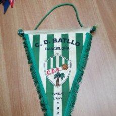 Banderines de colección: BANDERIN C. D . BATLLO - BARCELONA -FUNDAT L´ANY 1929. Lote 195403568