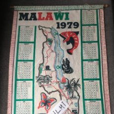 Banderines de colección: MALAWI, CENTROAFRICA, CALENDARIO EN TELA AÑO 1979. Lote 195616055