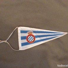 Banderines de colección: BANDERÍN REAL CLUB DEPORTIVO ESPAÑOL. TELA. RARO.. Lote 195953457