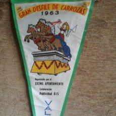 Banderines de colección: GRAM DESFILE DE CARROZAS 1963. Lote 197026072