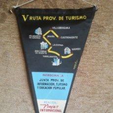 Banderines de colección: V RUTA PROVINCIAL DE TURISMO 1961. Lote 197026626