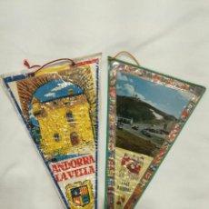 Banderines de colección: DOS BANDERINES ANDORRA, CASA DE LA VALL Y LES VALLS D'ANDORRA. Lote 197373865