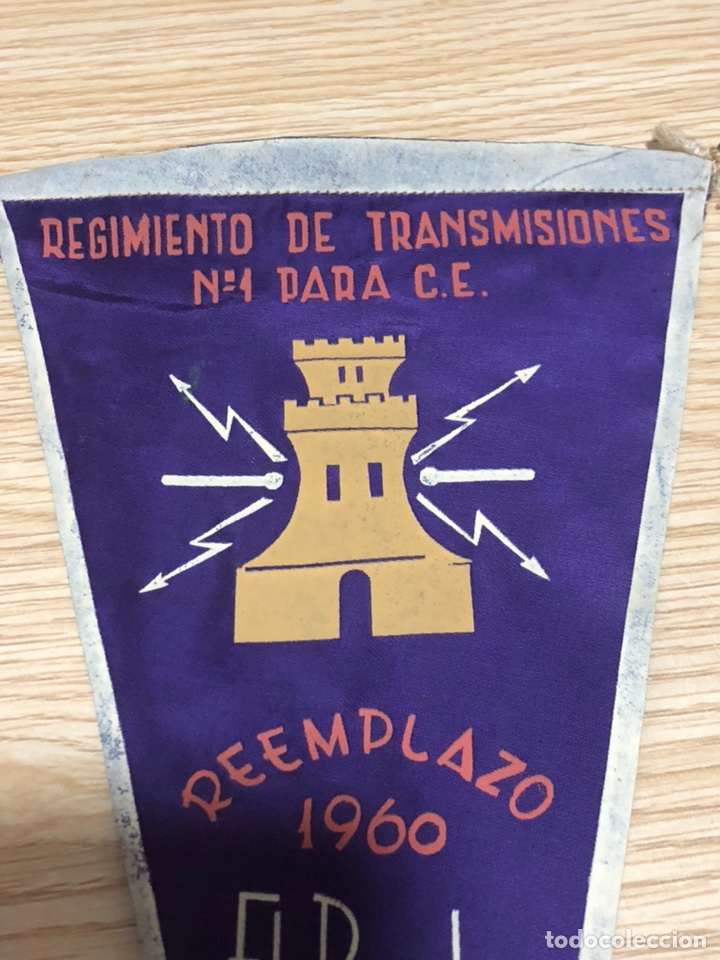 Banderines de colección: Banderín regimiento de transmisiones el pardo - Foto 2 - 197456943