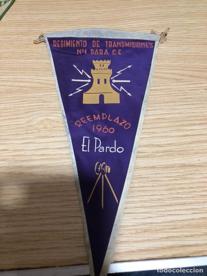 BANDERÍN REGIMIENTO DE TRANSMISIONES EL PARDO (Coleccionismo - Banderines)