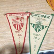 Banderines de colección: LOTE DE 2 BANDERINES GARAJE PRETEL, SEVILLA. Lote 197457435