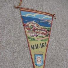 Banderines de colección: MÁLAGA, BANDERÍN DE TELA AÑOS 60. PLAZA DE TOROS,. Lote 199848465