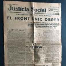 Banderines de colección: JUSTICIA SOCIAL / SEMANARI SOCIALISTA - BARCELONA 1924 / EL FRONT UNIC OBRER. Lote 201778622