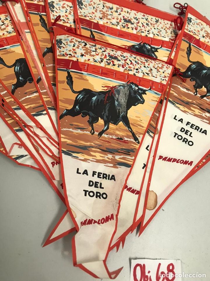 Banderines de colección: Lote de banderines feria del toro Pamplona - Foto 2 - 202106548