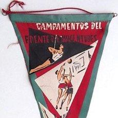 Banderines de colección: BANDERÍN CAMPAMENTOS DEL FRENTE JUVENTUDES. JUEGOS DEPORTIVOS. MADRID. Lote 202952666
