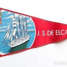 Banderines de colección: BANDERÍN BUQUE ESCUELA JUAN SEBASTIAN ELCANO , ANTIGUO. Lote 203030723