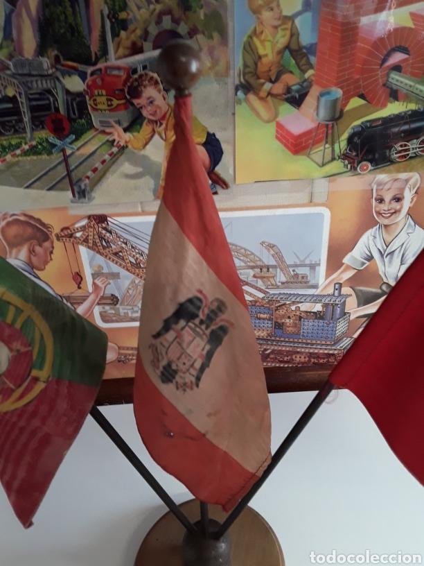 Banderines de colección: Antiguas Banderas de despacho on las banderas de PORTUGAL - ESPAÑA - ZARAGOZA (EPOCA DE FRANCO) - Foto 3 - 203328591