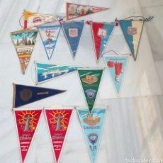 Banderines de colección: LOTE VINTAGE 14 BANDERINES DIFERENTES AÑOS 60/70. Lote 203466838