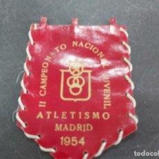 Banderines de colección: ANTIGUO BANDERIN CAMPEONATO JUVENIL ATLETISMO 1954. Lote 205575588
