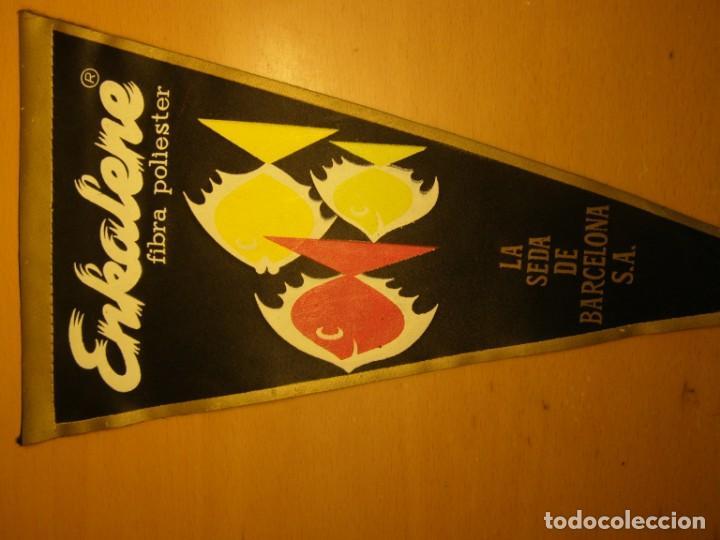 Banderines de colección: Banderin de EKALENE, Industria de la Seda, Barcelona, años 60. - Foto 2 - 206416821