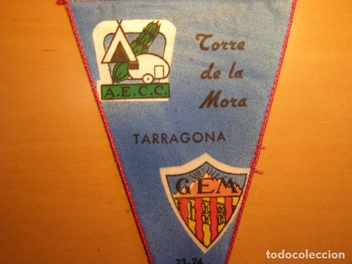 Banderines de colección: Banderin de la Torre de la Mora, campamentos AECC-CEM, año 1961. - Foto 2 - 206416905