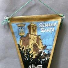Fanions de collection: BANDERIN DE TELA SEMANA SANTA ALBACETE - BANDERIN-245. Lote 207076130