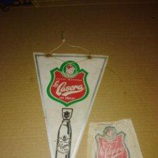 Banderines de colección: BANDERIN GASEOSA LA CASERA FUNDA BOTELLA. Lote 207631803