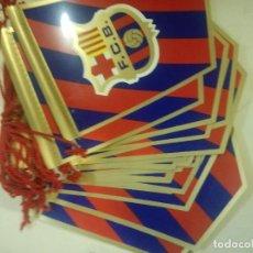 Banderines de colección: FC BARCELONA VINTAGE SUPER LOTE 30 PENNANT FOOTBALL BADERIN FUTBOL. Lote 208211192