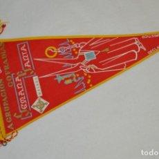 Banderines de colección: VINTAGE - ANTIGUO BANDERÍN - MÁLAGA SEMANA SANTA - AGRUPACIÓN DE COFRADÍAS DE SEMANA SANTA - 50 / 60. Lote 210043368