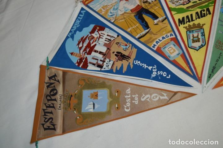 Banderines de colección: VINTAGE - Coleccion de 6 ANTIGUOS BANDERÍNES - MÁLAGA y PROVINCIA / Años 50 / 60 ¡Mira, preciosos! - Foto 2 - 210044448