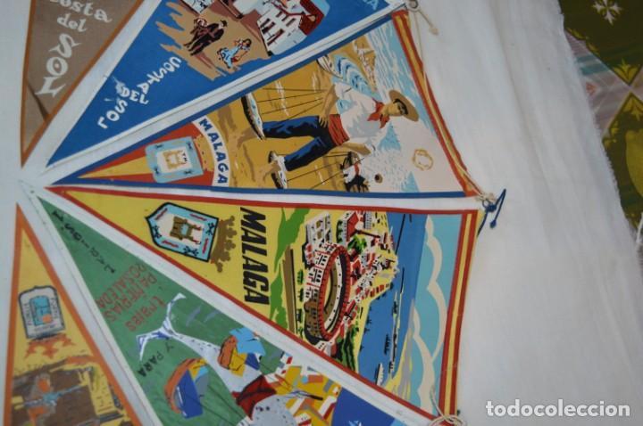Banderines de colección: VINTAGE - Coleccion de 6 ANTIGUOS BANDERÍNES - MÁLAGA y PROVINCIA / Años 50 / 60 ¡Mira, preciosos! - Foto 3 - 210044448