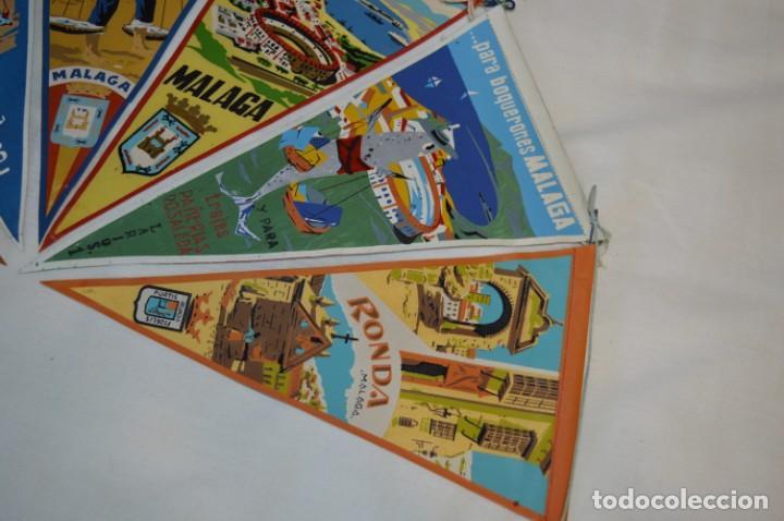 Banderines de colección: VINTAGE - Coleccion de 6 ANTIGUOS BANDERÍNES - MÁLAGA y PROVINCIA / Años 50 / 60 ¡Mira, preciosos! - Foto 4 - 210044448