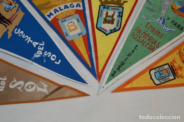 Banderines de colección: VINTAGE - Coleccion de 6 ANTIGUOS BANDERÍNES - MÁLAGA y PROVINCIA / Años 50 / 60 ¡Mira, preciosos! - Foto 5 - 210044448