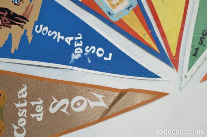 Banderines de colección: VINTAGE - Coleccion de 6 ANTIGUOS BANDERÍNES - MÁLAGA y PROVINCIA / Años 50 / 60 ¡Mira, preciosos! - Foto 6 - 210044448