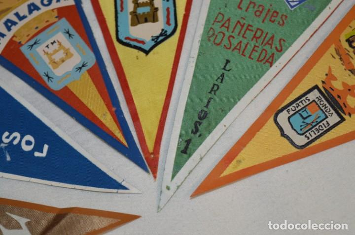 Banderines de colección: VINTAGE - Coleccion de 6 ANTIGUOS BANDERÍNES - MÁLAGA y PROVINCIA / Años 50 / 60 ¡Mira, preciosos! - Foto 7 - 210044448