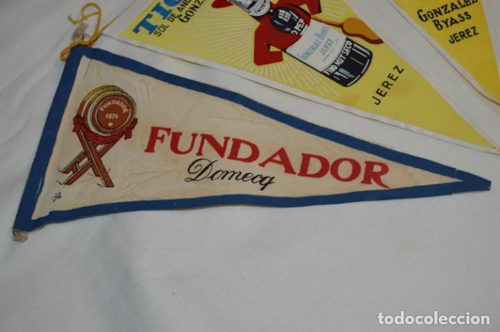 Banderines de colección: VINTAGE - Colección de 3 ANTIGUOS BANDERÍNES - Fundador / Tio Pepe y Solera 1847 -- Años 50 / 60 - Foto 2 - 210045497