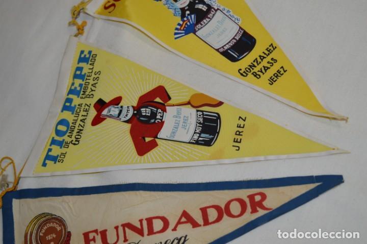 Banderines de colección: VINTAGE - Colección de 3 ANTIGUOS BANDERÍNES - Fundador / Tio Pepe y Solera 1847 -- Años 50 / 60 - Foto 3 - 210045497