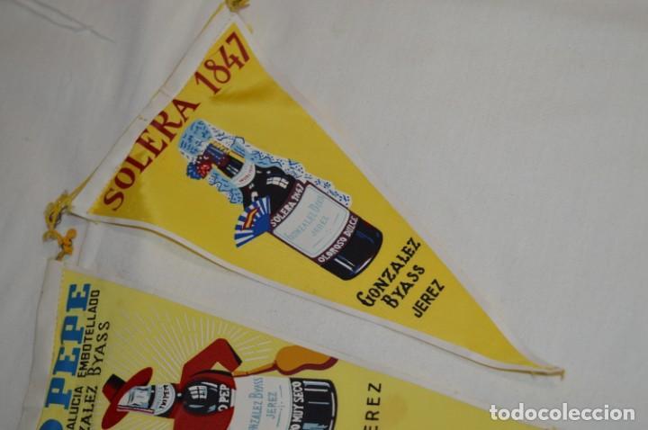 Banderines de colección: VINTAGE - Colección de 3 ANTIGUOS BANDERÍNES - Fundador / Tio Pepe y Solera 1847 -- Años 50 / 60 - Foto 4 - 210045497